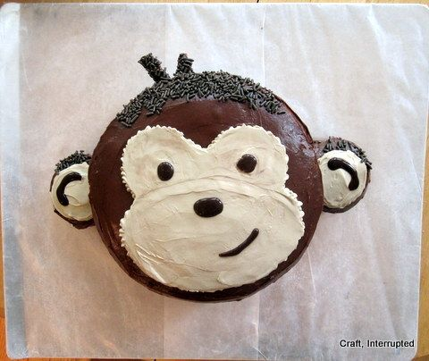 Monkey Birthday Party Ideas - Monkey Cake