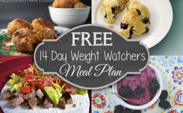 FREE 14 Day Weight Watchers Meal Plan (Recipe Round Up)! | All Mommy Wants