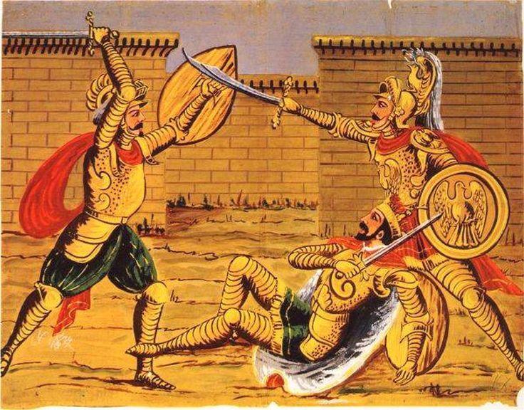 71  Orlando salva Carlo Magno dall´ira di Gradasso di Siricania (I Paladini di Francia)