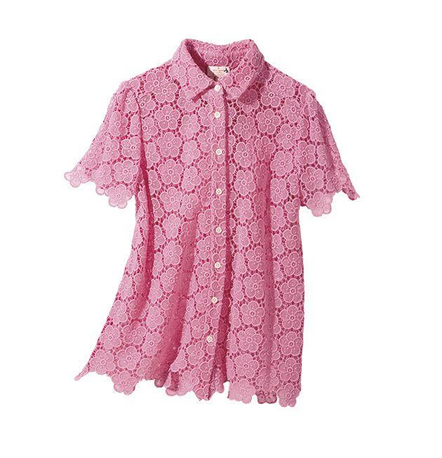 25ans 2ch 10 セレブ 25ans 2ちゃん 25ansエレブロガー ヴァンサンカン エレブロガー 2ちゃんねる 25ans 2ちゃん 大活躍のカラフル&柄トップス ケイトスペード ニュー ヨークエレスポーティが今っぽいピンクのレースシャツスポーティなデザインのシャツはエレ女好みのピンクとレース シャツ35000ケイトスペード ニューヨークケイトス