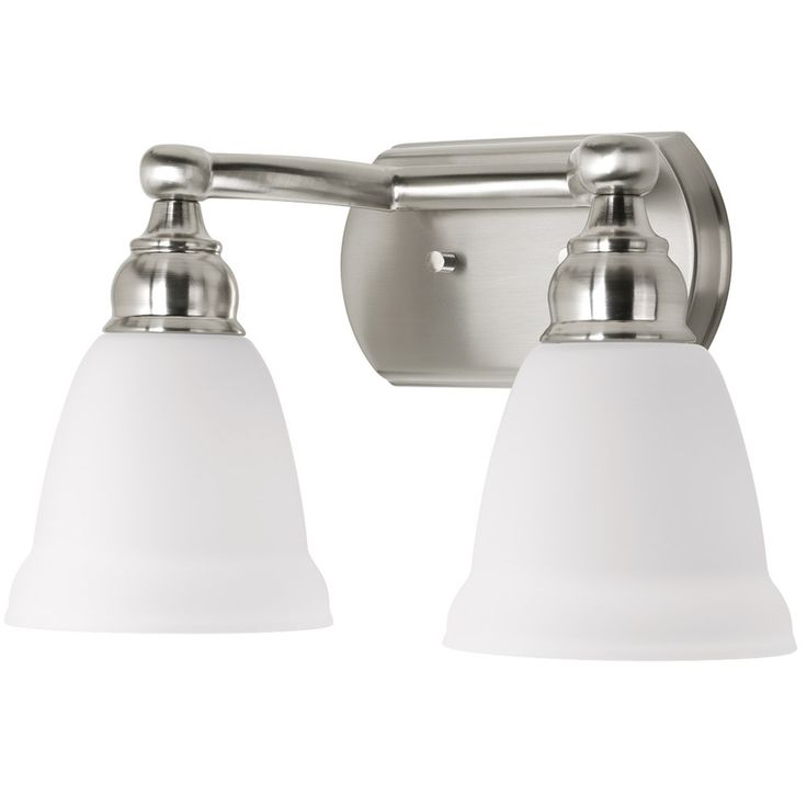 Delta Bathroom Vanity Lights : Shop DELTA 2-Light Windemere Brushed Nickel Bathroom Vanity Light at Lowes.com Wheeler ...