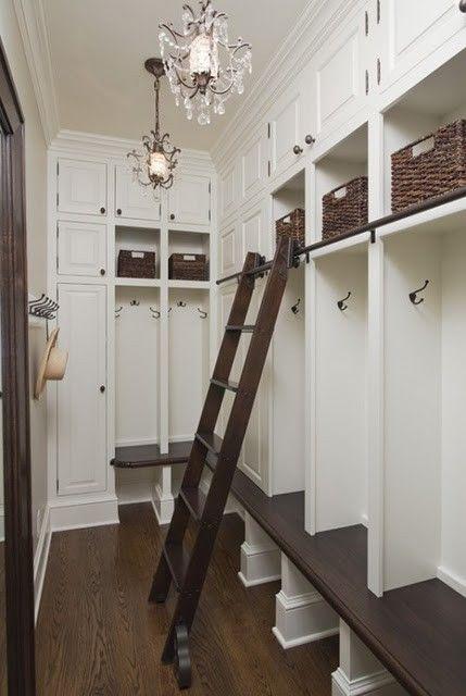 "mudroom storage, ""locker style"" wall (provides additional hook areas on sides)"