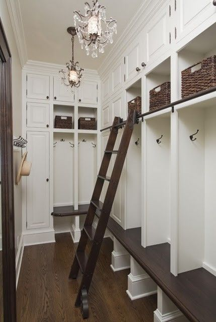 "mudroom storage, ""locker style"" wall (provides additional hook areas on sides)"