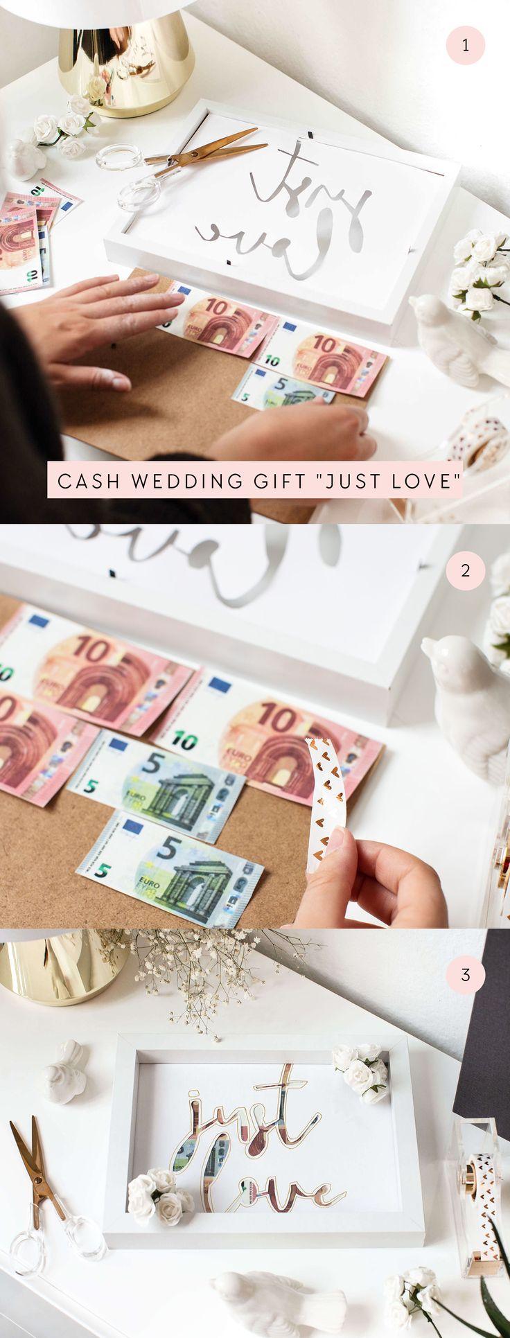 Cash Wedding Gift | Geldgeschenk Hochzeit DIY