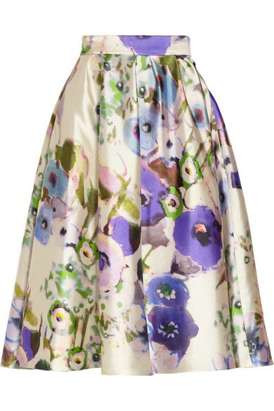 Lela Rose satin skirt. If I ever win the lottery (or turn this blog thing into the smashing success I truly believe it can be), I'm treating myself to something from Lela Rose.
