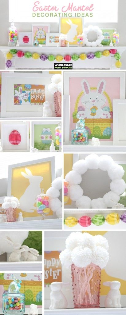 From framed art to bunny tail wreaths to egg-shaped garland, there's a fit for your home. Take your pick, or do a full-on mantel blowout! If you're ready to hop into decorating for #Easter, we have some egg-cellent ideas for you. Follow along as we transform regular party supplies into artful and creative holiday adornments.