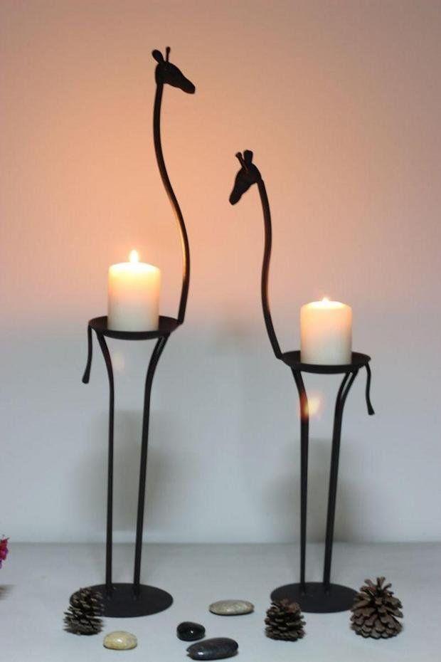 porta velas - Jirafas ... juega con tus gustos naturales y los accesorios perfectos para ese espacio en tu hogar
