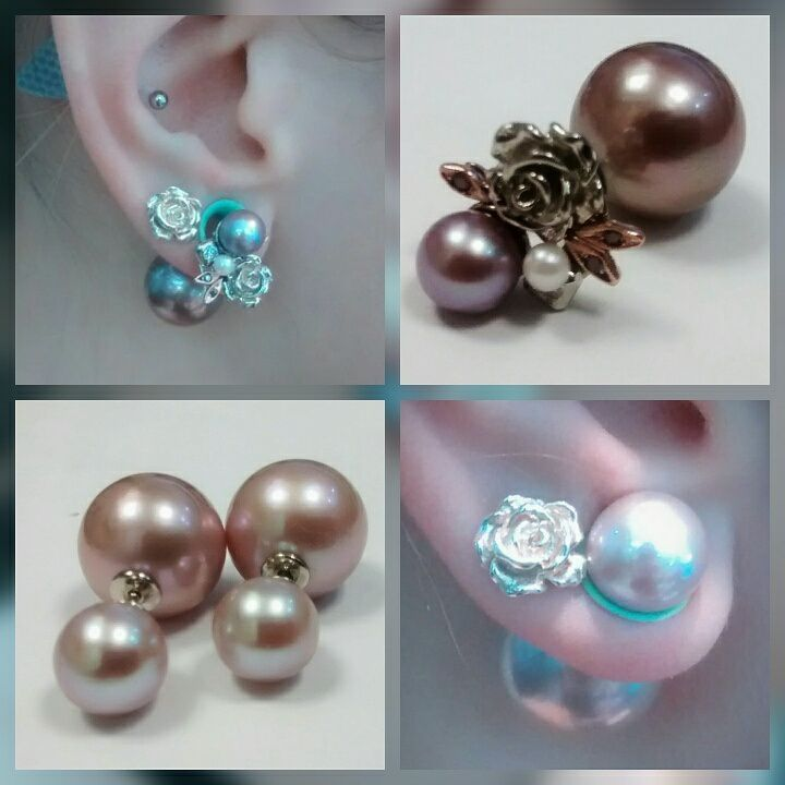 """A girl should be two things CLASSY AND FABULOUS""""....Coco Chanel. Custom design """"Belle"""" Pearl earrings. #custom #design #custom #made #ottawa #downtown #bobthompsonjewellers #edison #pink #pearl #with #purple #diamond #leaves #white #and #rose #gold #beunique #be #instafashion #fashionista #talindesign #jewelry #local #designer #jewelryblogger"""