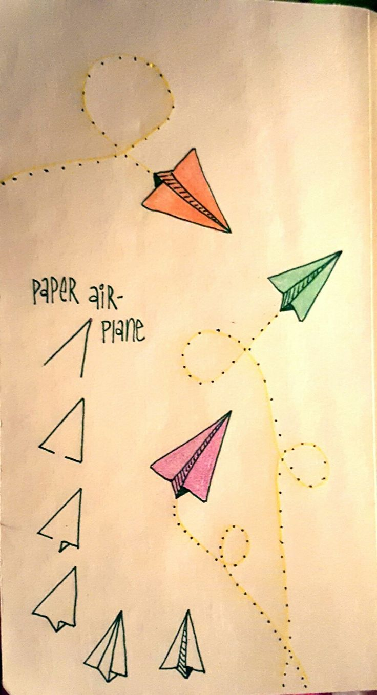 Paper airplanes are fun to draw