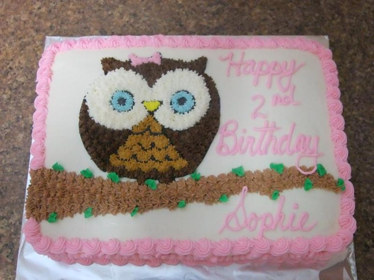 1st birthday owl sheet cake ideas | ... Owl Cupcake Wedding Top Tier Cake Inspired From Invites Cake on