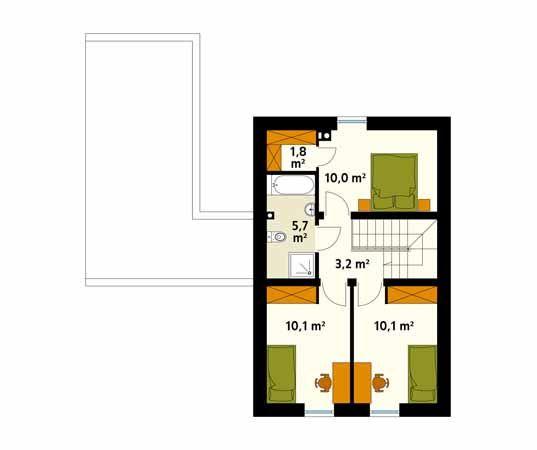 Projekt domu Teo 4 - rzut piętra/poddasza
