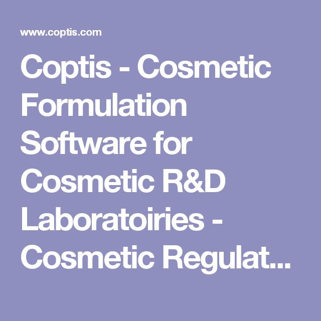 Coptis - Cosmetic Formulation Software for Cosmetic R&D Laboratoiries - Cosmetic Regulatory Software - Cosmetic Raw Materials database