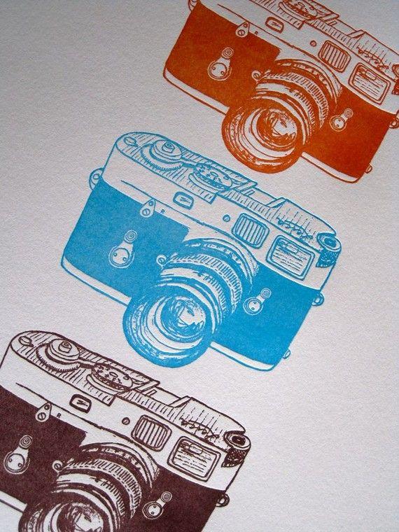 Letterpress Leica Cameras by BitterSugar on Etsy.: Camera Prints, Camera Drawings, Leica Cameras, Amazing Cameras, Card, Art Xd, Antique Cameras, Camera Photography, Camera Art