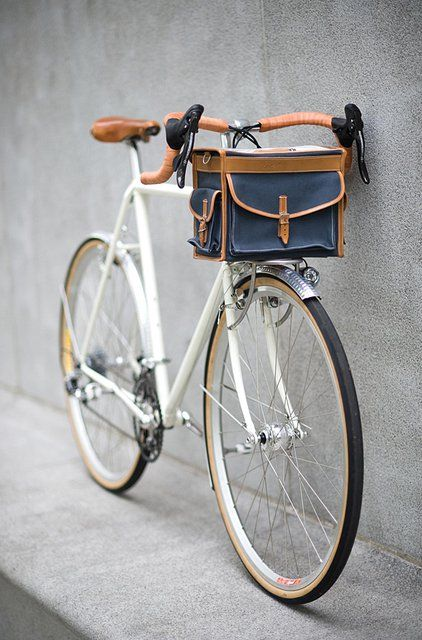 bicycle with carrier bag