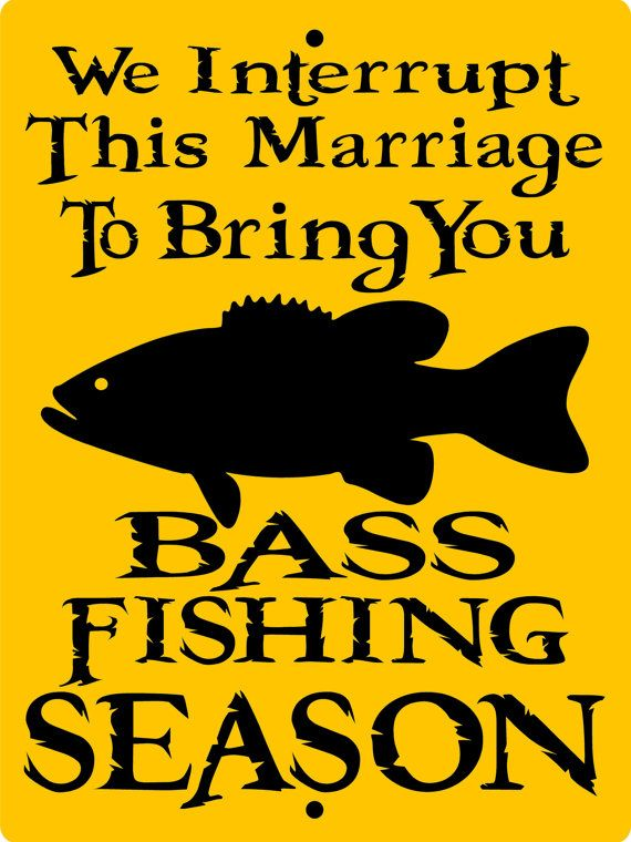 BASS FISHING SIGN 9x12 Aluminum by animalzrule on Etsy, $12.00
