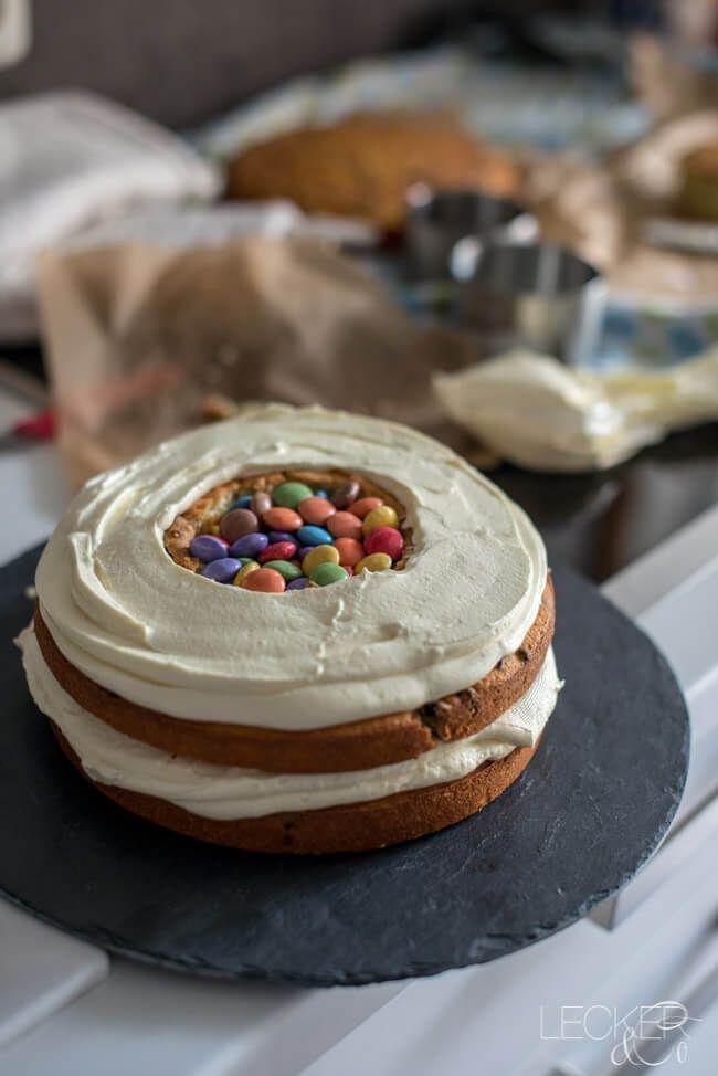 Surprise Inside Torte Zum Kindergeburtstag Rezept Torte Kindergeburtstag Kuchen Ohne Backen Kindergeburtstagstorte