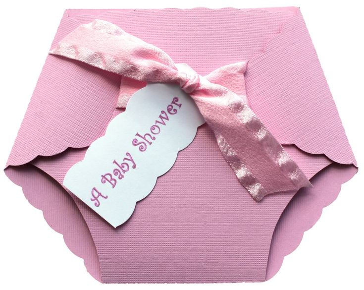 Such an adorable invitation for a baby shower...instead of using the ribbon use a couple of safety pins or diaper pins to hold the invite together