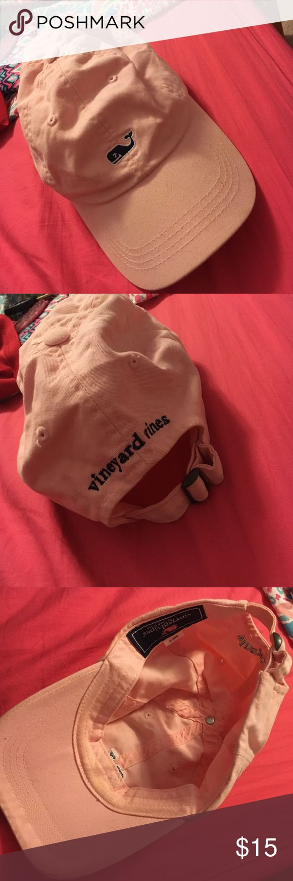 Vineyard vines hat Pink vineyard vines hat worn maybe 3 times! Small mark on the front next to the whale as shown in the last picture Vineyard Vines Accessories Hats