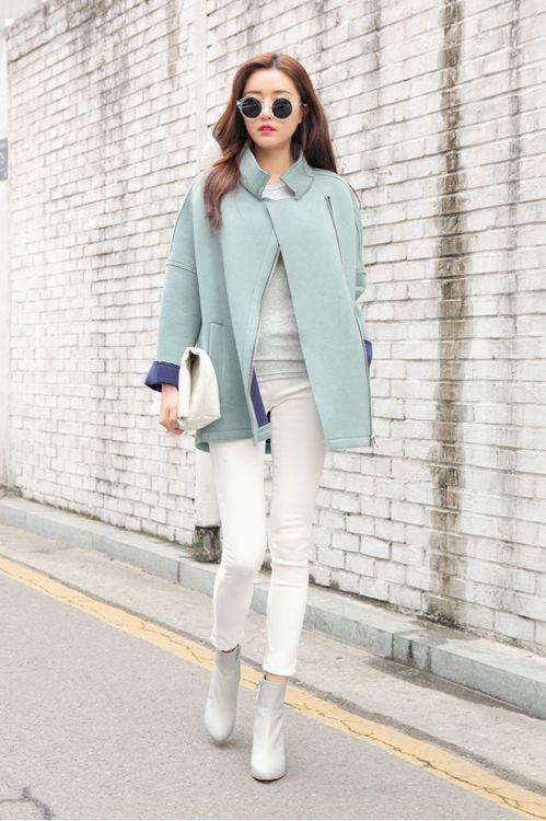 the-streetstyle: Basic Tight side zippervia stylenanda