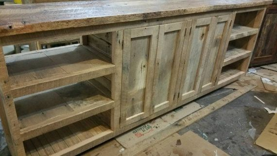 YOUR Custom Made Rustic Barn Wood Cabinet, or Entertainment Center With Free Shipping