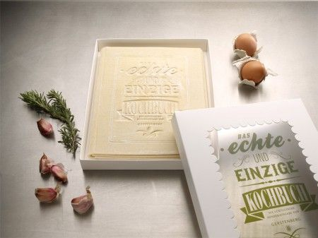 The first and only Cookbook you can actually read, cook and eat.   (From Korefe site)