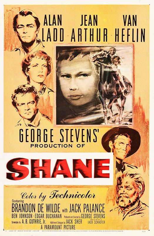awesome Classic Shane Film Poster, Linen Backed - 1953
