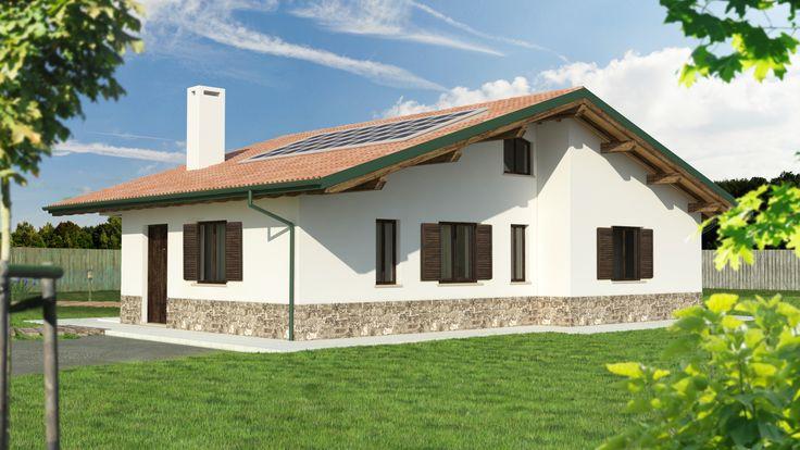 Progetto Casa in Legno Bipiano URB16 da 110 metri quadrati. Progettazione casa in legno personalizzata a seconda delle esigenze abitative