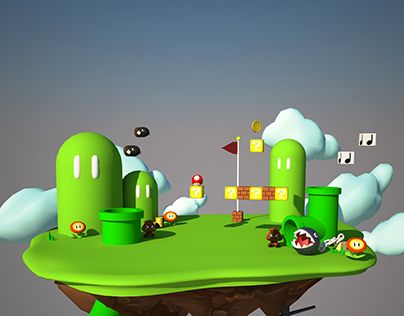 "Check out new work on my @Behance portfolio: ""Mario Bros World - 3D Design"" http://be.net/gallery/33041653/Mario-Bros-World-3D-Design"