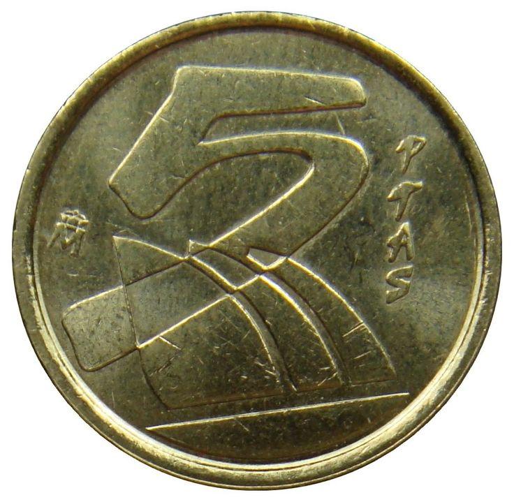 (D33) - Spanien Spain - 5 Pesetas 1998 - Juan Carlos I Karavellen - XF - KM# 833 #Coins #Coin #Numismatics #Ebay #Stamps #Banknotes #Briefmarken #Münzen #Banknoten #Sale #Kaufen #Deal #Online #Buy