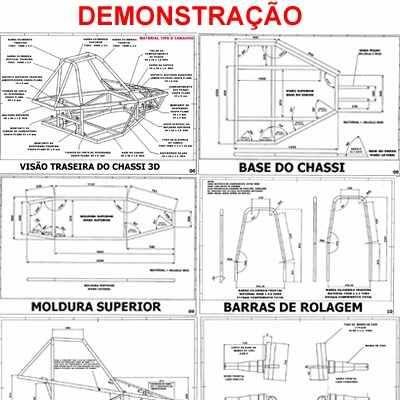 Projeto Kart Cross Gaiola Buggy Kart 104 Págs