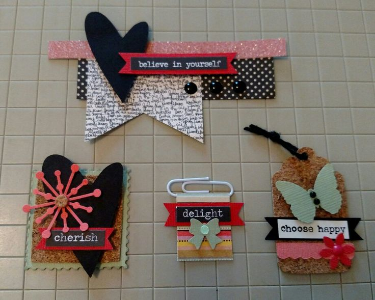 """Embellishments for cards using Fancy Pants """"it's the little things"""""""