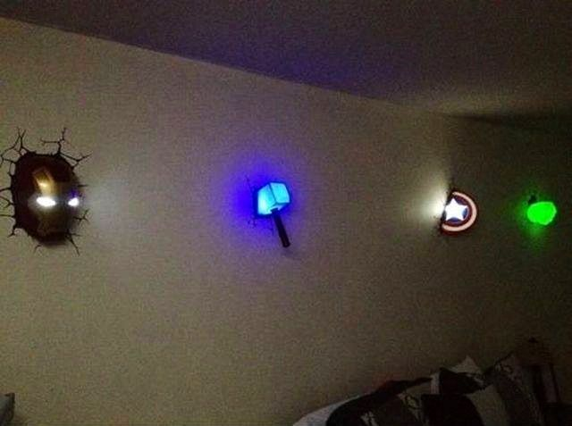 3d Deco Superhero Wall Lights Thor Hammer : 1000+ images about 3DlightFX 3D Superhero Deco Lights on Pinterest Thors hammer, Iron man and ...
