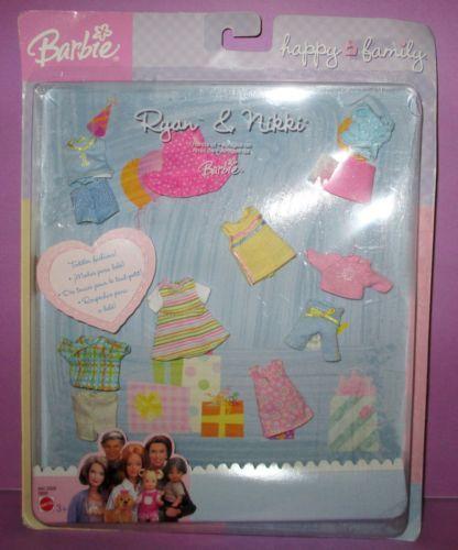 Barbie Happy Family Baby Kelly Ryan Nikki RARE Fashion Clothes Pack | eBay