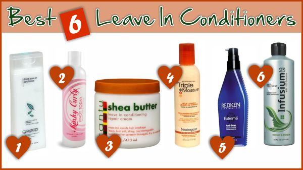 Best 6 Leave In Conditioners For Natural And Relaxed Hair http://www.blackhairinformation.com/growth/moisturizing/best-6-leave-in-conditioners-for-natural-and-relaxed-hair/