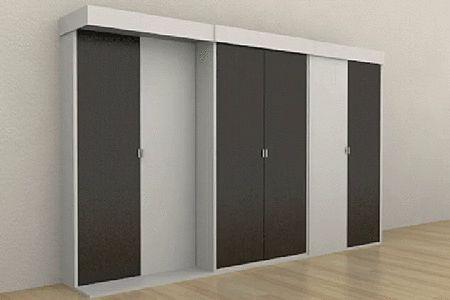 Шкаф-кровать Grosso разработан для малогабаритных квартир, экономия пространства более чем очевидна. Состоящая из трех секций система предлагает три вместительных двухстворчатых шкафа.  Центральный модуль с легкостью смещается в удобную для вас сторону, позади него располагается двуспальная кровать. При поддержке подъемного механизма она беспрепятственно занимает свое место. Осуществить трансформацию вполне по силам даже детям.