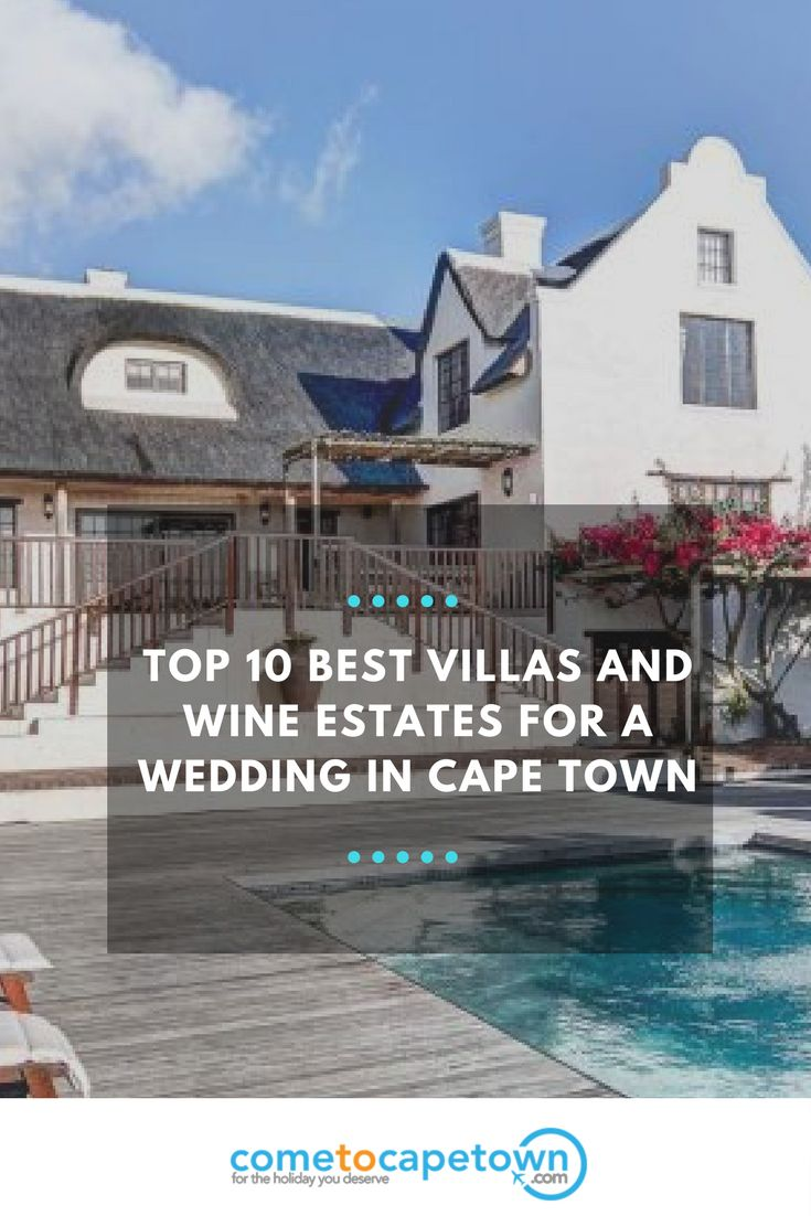 Did you know that small intimate weddings are a big thing in Cape Town at the moment? The good news is that South Africa's Mother City is home to many beautiful villas and picturesque wine estates that host wedding celebrations.