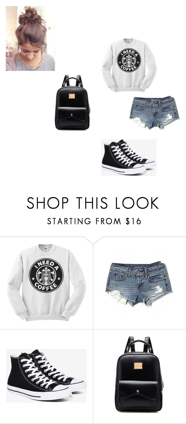 """""""Lazy School Outfit"""" by sofia-b04 on Polyvore featuring American Eagle Outfitters and Converse"""