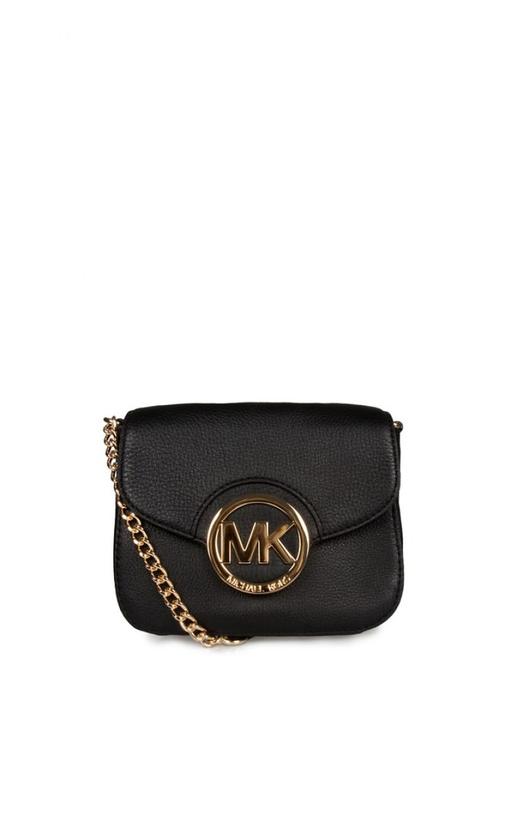 Väska Fulton SM Crossbody BLACK/GOLD - handbags ss15 - Raglady