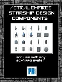 Modular designs... Astral Empires, Starship Design Components Book - Need a ship to transport your crew safely between adventures?  Want to construct one yourself instead of buying one of those boring off-the-shelf variants?  Look no further than theStarship Design Components Book available for the ASTRAL EMPIRES science fiction gaming system.  With 76 different modular pieces available in this book you can create a wide variety of designs for many different types of missions.  Then by using…