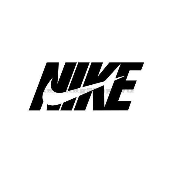 Nike Just Do It Swoosh Logo Cricut Cutter Svg Eps Dxf Pdf Png Logo Silhouette Logo Sketches Doodle Art Designs
