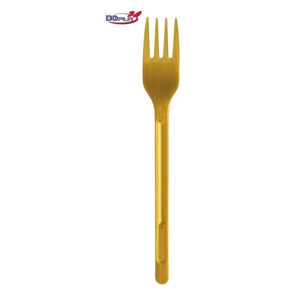 Vorken Colors : Plastic vorken goud - Bozikova feest-en verpakkingswinkel