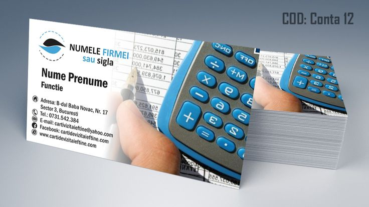 carti de vizita contabil, contabilitate, accounting business cards template