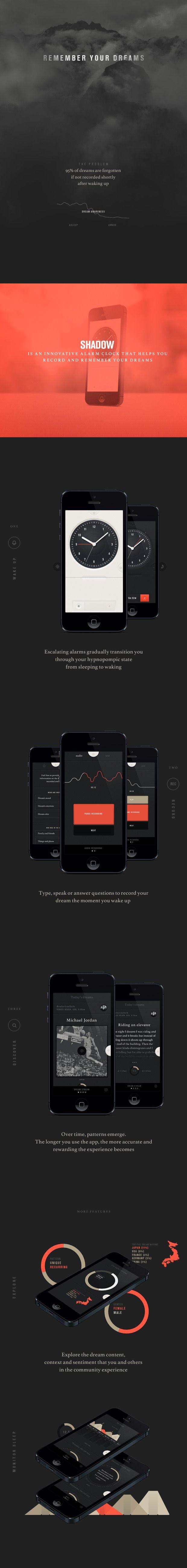 SHADOW #dreamers #dreams #UI #design #dark #app #interface
