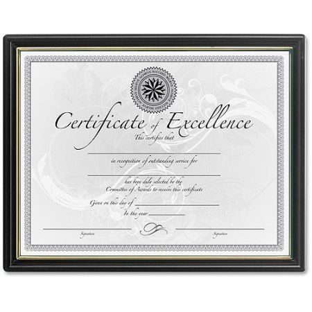 Burns Grp. Black and Gold Certificate Frames, Multicolor