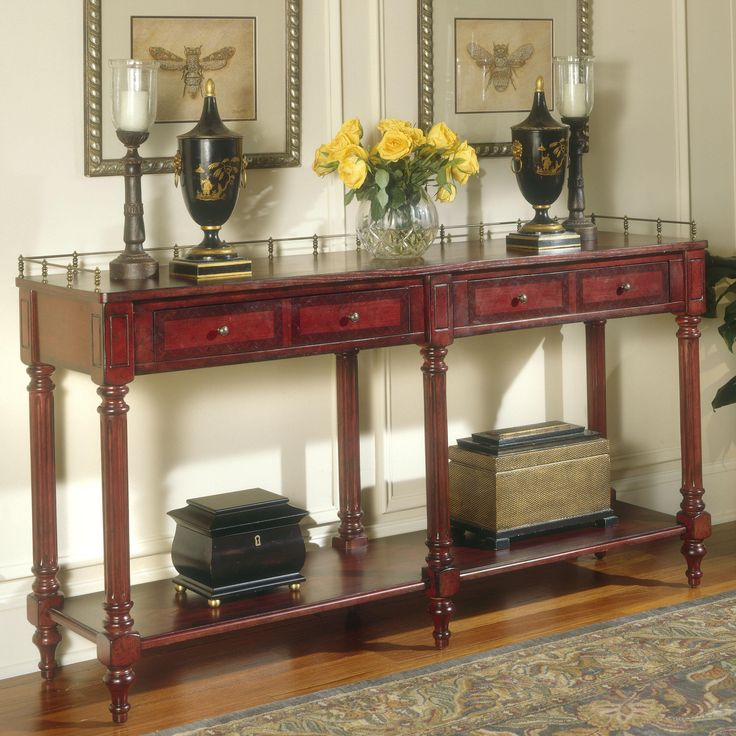 Double Console Table   About The Double Console Table The Double Console  Table Creates An Extra Long Element To Your Home Designs. Awesome Design