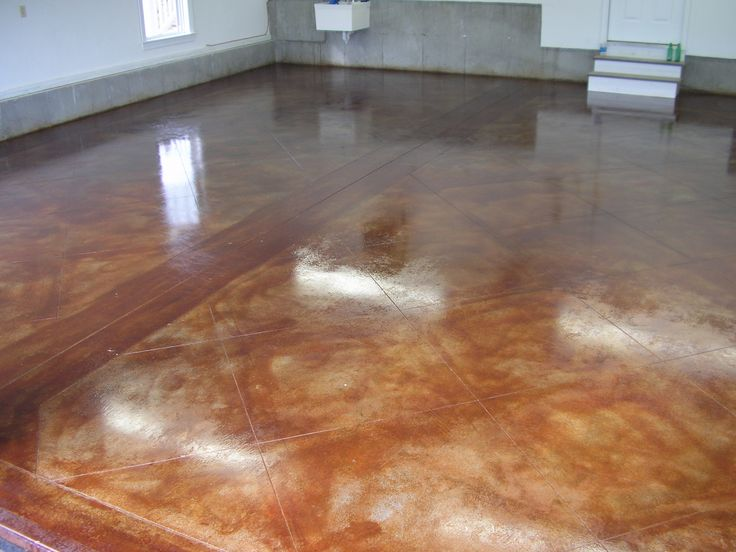 Stained concrete floors acid stained concrete floors for How to clean stained concrete garage floors