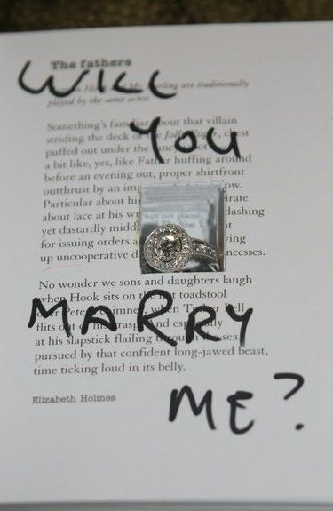 Cute Wedding Proposal Idea Hint Dont Use A Favourite Book Or If You