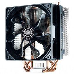 Cooler Master Hyper T4 disponible ici. Performant et pas cher, le ventirad Cooler Master Hyper T4 sera un achat idéal pour intégrer une machine de milieu de gamme. Grâce à ses 4 caloducs à contact direct et son ventilateur PWM, ce ventilateur pour processeur offre de bonnes performances avec un fonctionnement silencieux.