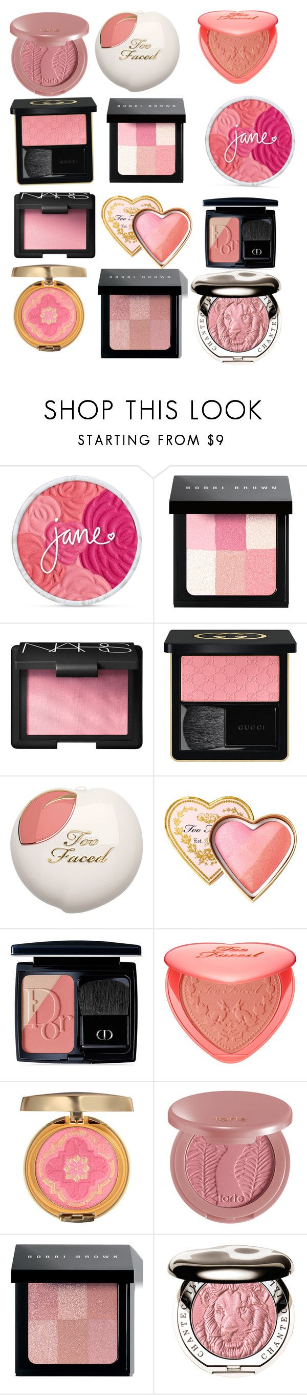 """Blush"" by maryann-rose on Polyvore featuring beauty, Bobbi Brown Cosmetics, NARS Cosmetics, Gucci, Too Faced Cosmetics, Christian Dior, Physicians Formula, tarte and Chantecaille"