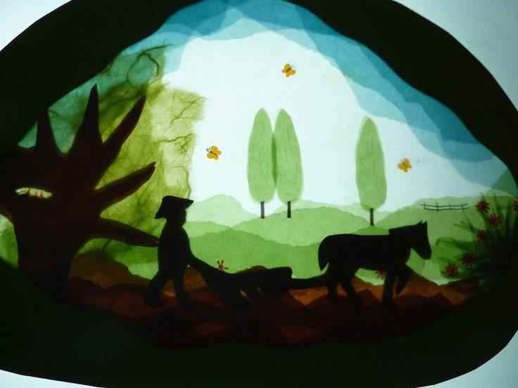 .Elementary Artworks, Crafts Ideas, Paper Art, Crafts Projects, Waldorf Windows Transparent, Bauer Und, Waldorf Transparent, Einem Bauer, Bauer Auf